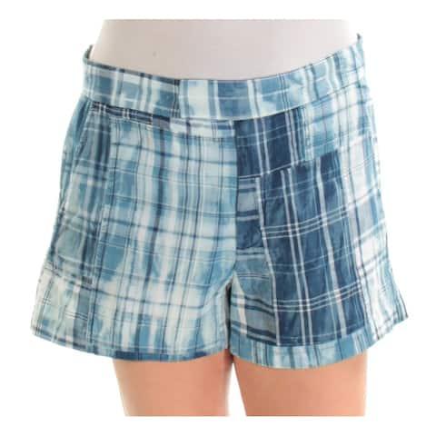 RALPH LAUREN Womens Blue Flat Front Short Size: 14