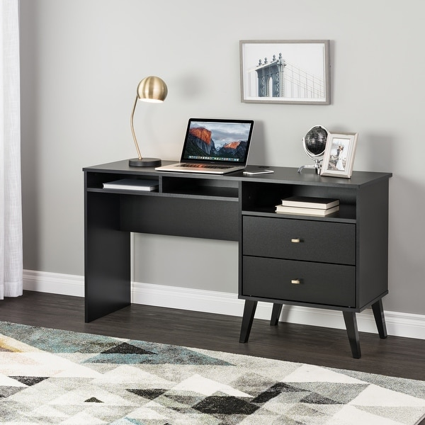 Prepac Milo Computer Desk with Side Storage and 2 Drawers. Opens flyout.