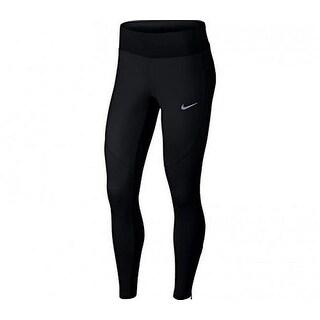Nike Womens Shld Tght, Black/Black, M