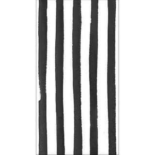 """Club Pack of 192 Licorice Black Dotted and Striped Premium 3-Ply Disposable Guest Napkins 8"""""""