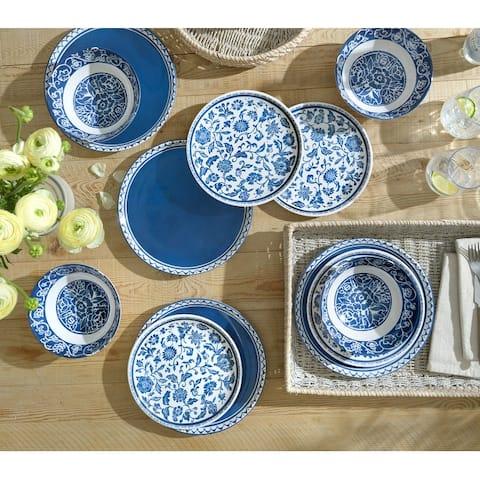 222 Fifth New Dynasty Ginger Jar Blue - 12 Piece Set