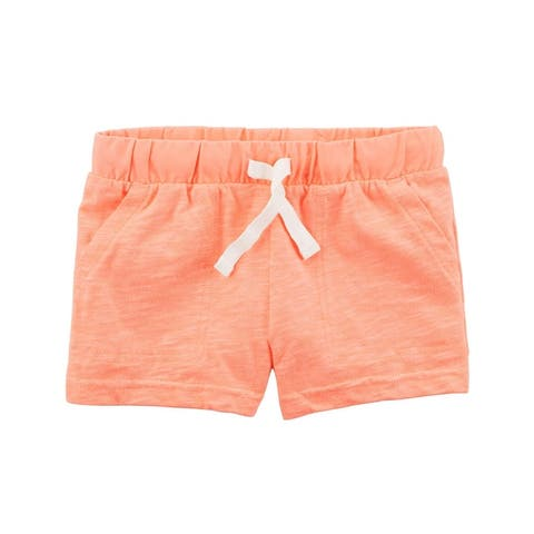 Carter's Little Girls' Neon Easy Pull-On Slub Jersey Shorts