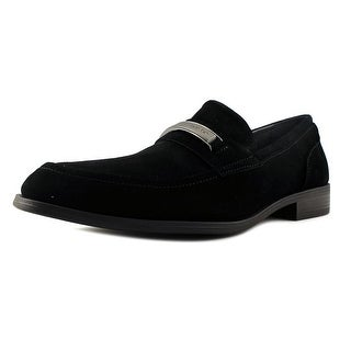 Calvin Klein Douggie Men Round Toe Suede Black Loafer