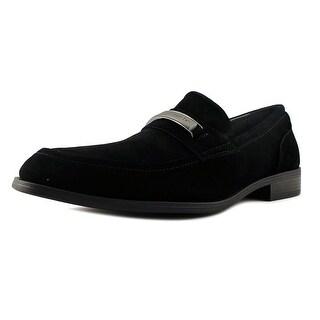 Calvin Klein Douggie Men Round Toe Suede Black Loafer