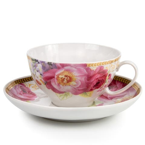 Romantic Melody Porcelain Cup and Saucer
