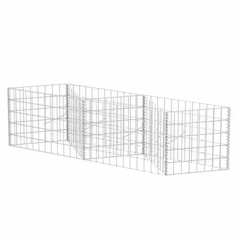 "vidaXL Gabion Basket/Planter/Raised Bed 47.2""x11.8""x19.7"""