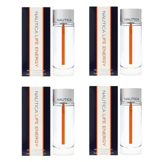 Nautica Life Energy, Eau De Toilette Spray, 3.4 Oz (4 Pack)