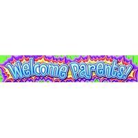 North Star Teacher Resources Welcome Parents Banner, 69 X 13 in