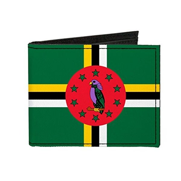 Buckle-Down Canvas Bi-fold Wallet - Dominica Flag Accessory