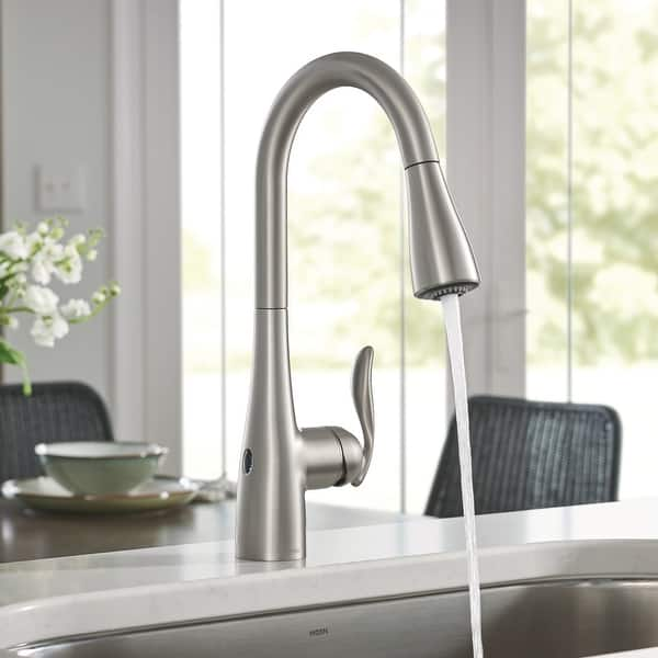 Shop Moen 7594EW Arbor Pull-Down High Arc Kitchen Faucet ...