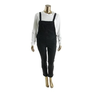 Levi's Womens Juniors Overall Jeans Denim Black Wash