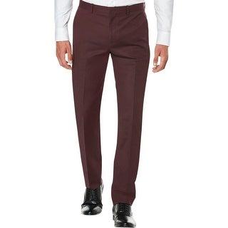 Perry Ellis Mens Dress Pants Twill Slim Fit