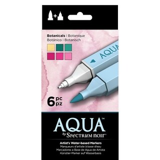 BOTANICALS Color Aqua Markers Spectrum Noir (6PC) Water Based Twin Tipped Tones