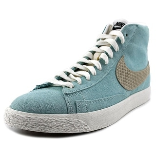Nike Blazer Mid Prm Men Round Toe Synthetic Blue Sneakers
