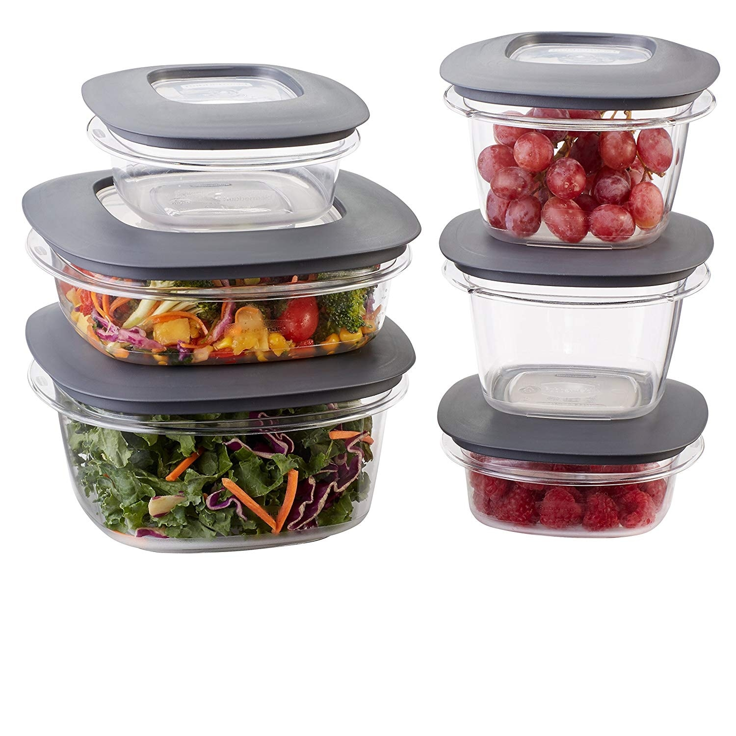 Gray Rubbermaid Premier Easy Find Lids Food Storage Containers 5 Cup