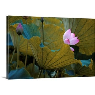 """Lotus"" Canvas Wall Art"