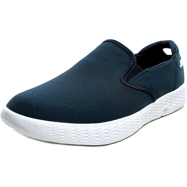 Skechers On The Go Glide Women Round Toe Canvas Blue Loafer