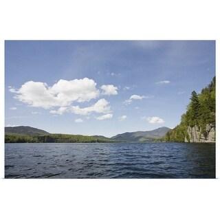 """USA, New York State, Adirondack Mountains, Lake Placid"" Poster Print"