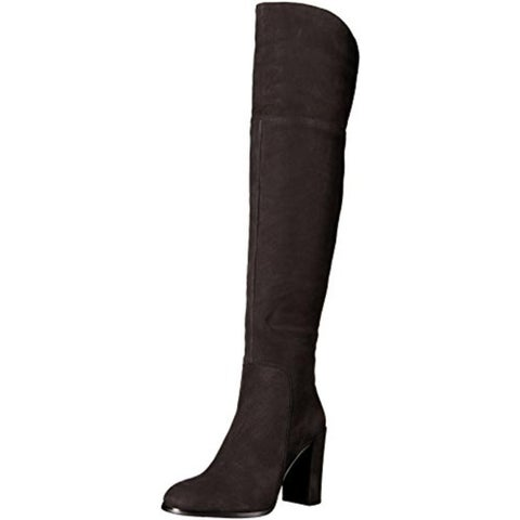 Kenneth Cole New York Womens Jack Engineer Knee-High Boots Textured Block Heel