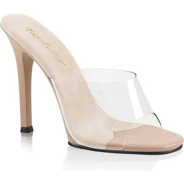 63bc9df257c Shop Fabulicious Women s Gala 01 Slide Clear PVC-Nude Nude Matte - On Sale  - Free Shipping On Orders Over  45 - Overstock - 16300495
