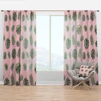 Designart Tropical Palm Leaves I Mid Century Modern Curtain Panel On Sale Overstock 29625995