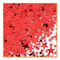 Pack of 6 Metallic Red Star Celebration Confetti Bags 0.5 oz.