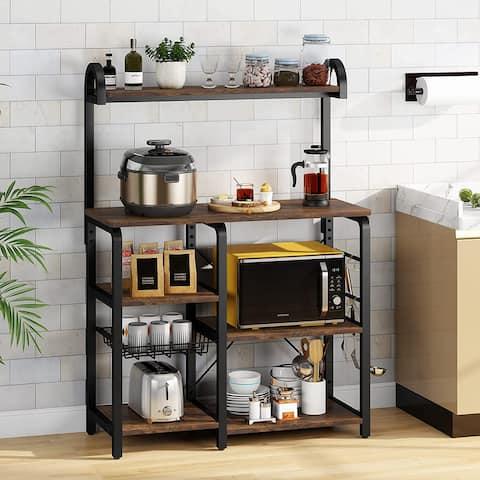 Kitchen Baker's Rack, Microwave Oven Stand, Kitchen Cart Utility Storage Shelf