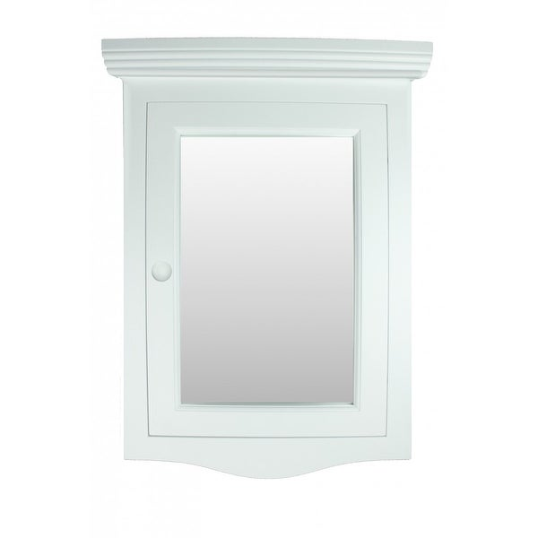 Corner White Wall Mount Medicine Cabinet Recessed Door Fully Pre Assembled  Hardware Included
