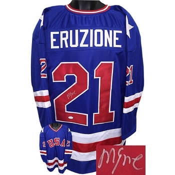Shop Mike Eruzione signed Team USA Blue TB Custom Stitched Hockey Jersey XL  JSA Holo 1980 Olympics vs So - Free Shipping Today - Overstock - 19882669 b53ad806205
