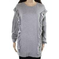 Abound Women's Medium Ruffle-Trim Pullover Sweater $29