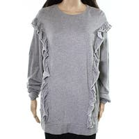 Abound Womens Small Ruffle-Trim Knit Pullover Sweater $29