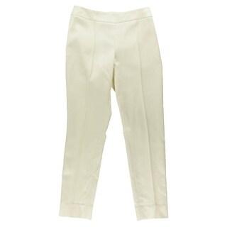 Oscar de la Renta Womens Silk Blend Flat Front Dress Pants - 6