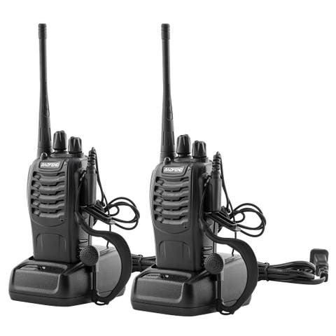 BF-888S 5W 400-470MHz Handheld Walkie Talkie Black (2pcs/Pair)