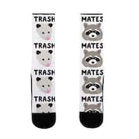 LookHUMAN Trash Mates Opossum Raccoon US Size 7-13 Socks