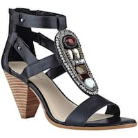 Nine West Women's Reese Gladiator Sandal Black Leather