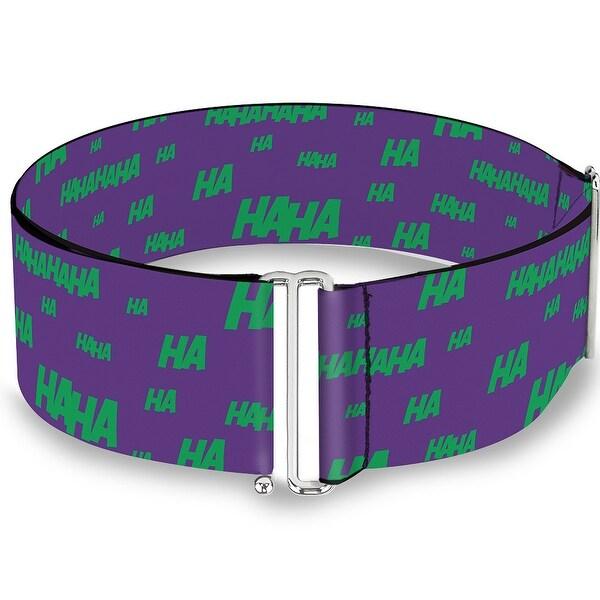 Joker Cards Flower Hahaha Purple Green Yellow White Cinch Waist Belt ONE SIZE