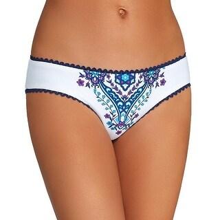 Becca by Rebecca Virtue NEW White Size Large L Reversible Bikini Bottom
