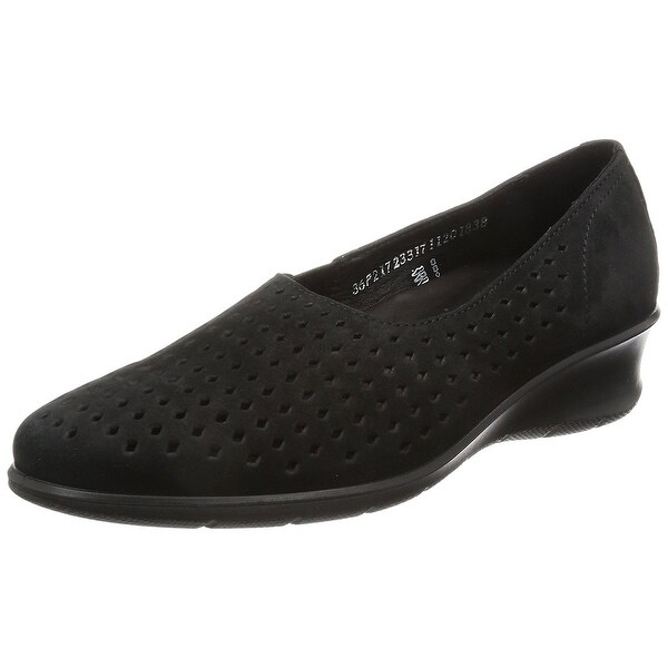 ECCO Womens Felicia NuBuck Closed Toe Casual Platform Sandals