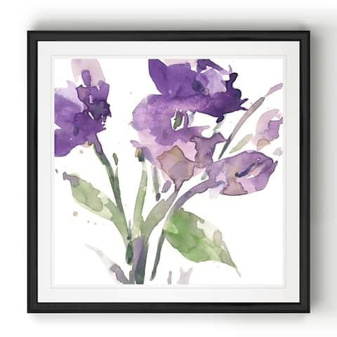 Garden Blooms I -Black Framed Print