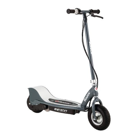 """Razor E300 Electric Scooter (9"""" Air-filled Tires, Matte Grey Color)"""