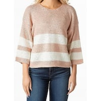 Favlux Blush Pink Womens Size Small S Striped Pullover Sweater