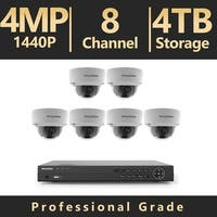LaView 8 Channel UHD 4K IP NVR with (6) 4MP Dome Cameras and a 4TB HDD