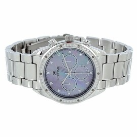 Mens Real Diamonds Watch Ice Time Chronograph Quartz Movement Classy Look Brand New On Sale