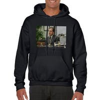 The Office Stitious Men's Black Hoodie