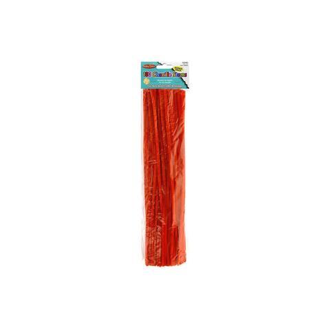 65465 creative arts chenille stems 4mm 12 100pc orange