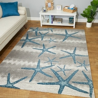 Martin Coastal Starfish Area Rug