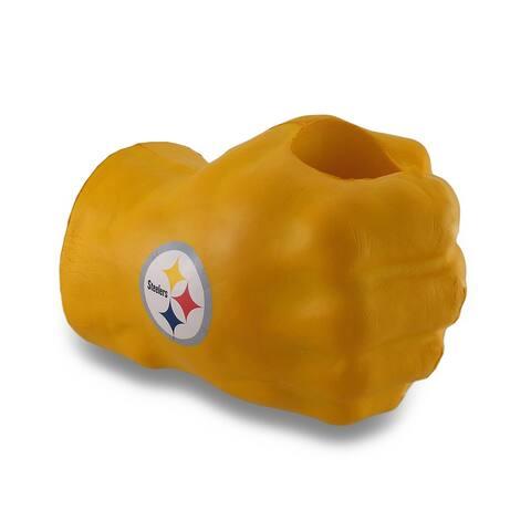 Pittsburgh Steelers Fan Fist Oversized Yellow Foam Fist Drink Holder - 7.5 X 11 X 6.5 inches