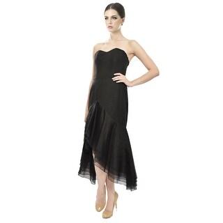 Angel Sanchez Layered Silk Organza Eve Dress