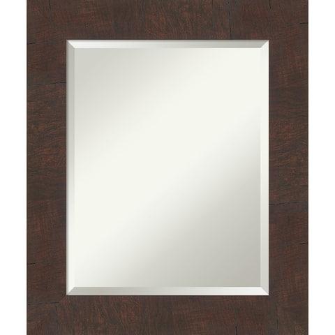 Wildwood Brown Bathroom Vanity Wall Mirror