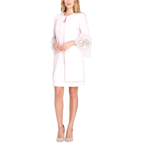 Tahari ASL Womens Dress Suit Lace Bell-Sleeve